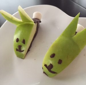 Dark Chocolate Apple Bunnies