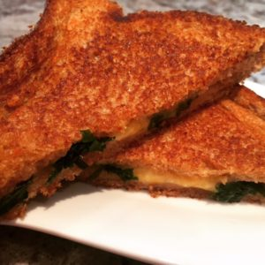 Kale Stuffed Grilled Cheese