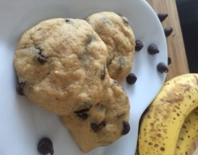 High Protein Banana Chocolate Chip Breakfast Cookies