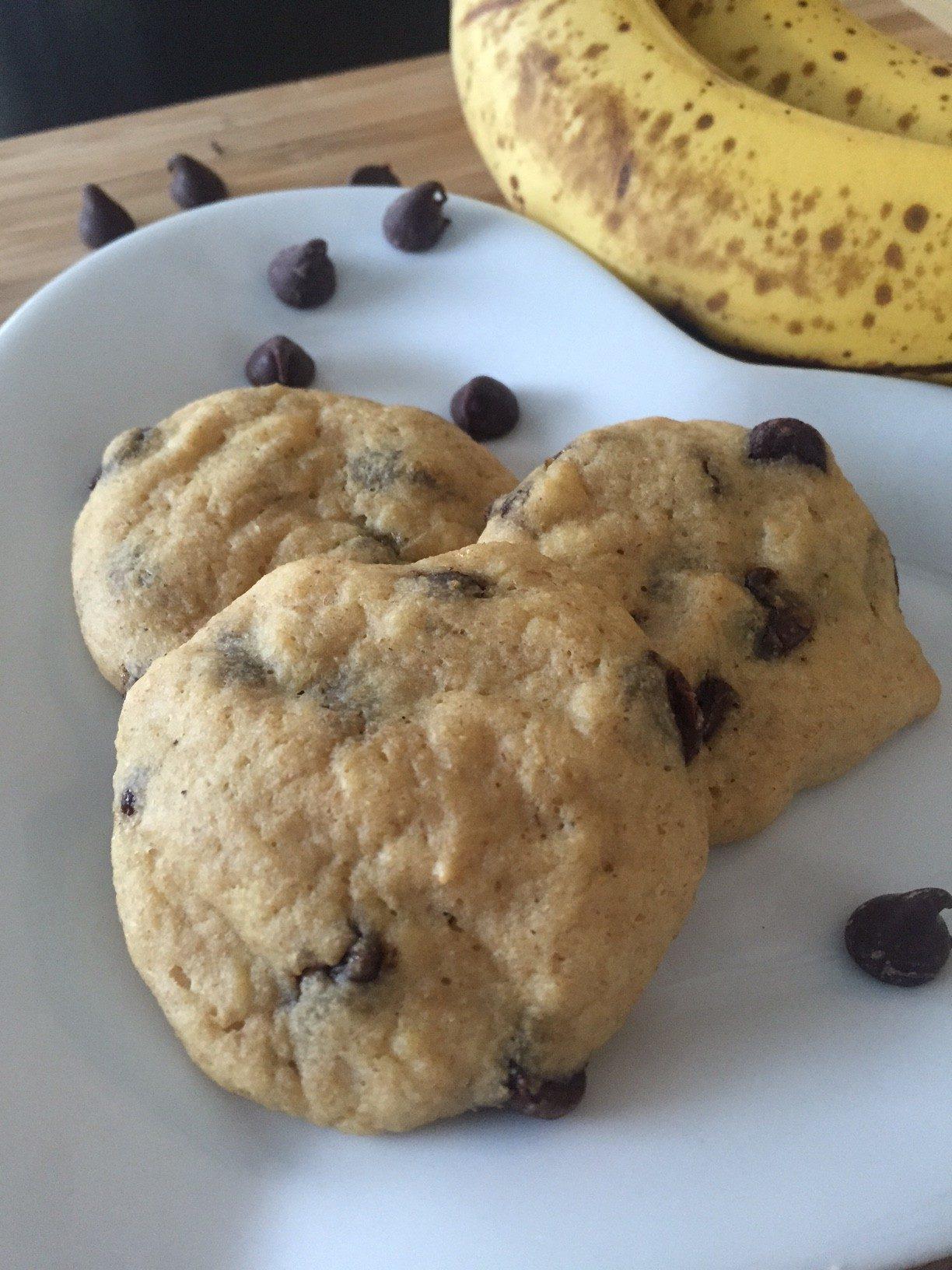 HIgh Protein Banana Chocolate Chip Breakfast Cookies