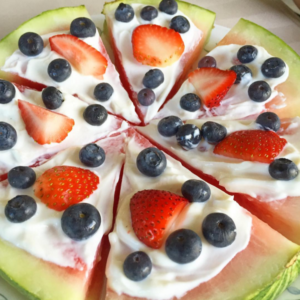 Frosted Watermelon Pizza the Whole Family Will Love