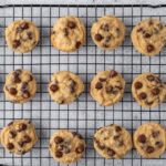 Banana Cookies With Chocolate Chips Cooling Down