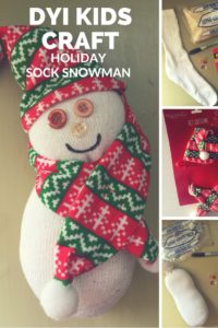 DIY Kids Craft: Snowman Sock Craft