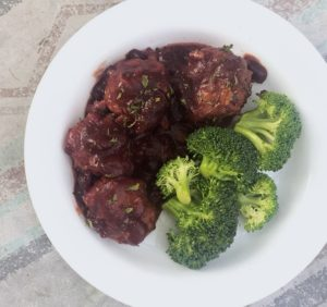 Crockpot Cranberry Barbeque Meatballs