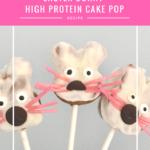 High protein cake pops- Easter Bunny Cake Pops