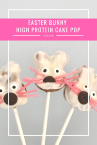 High protein cake pops- Easter Bunny Cake Pops