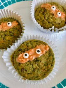 ninja turtle green muffin recipe for toddlers and picky eaters