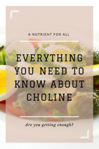 Are you getting enough choline in your diet