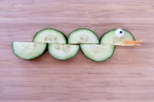 Vegetable Art Cucumber Snack