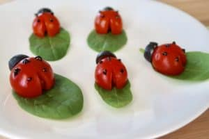 Vegetable Art For Picky Eaters: Tomato Ladybugs