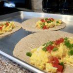 On the go egg breakfast burrito recipe preparation