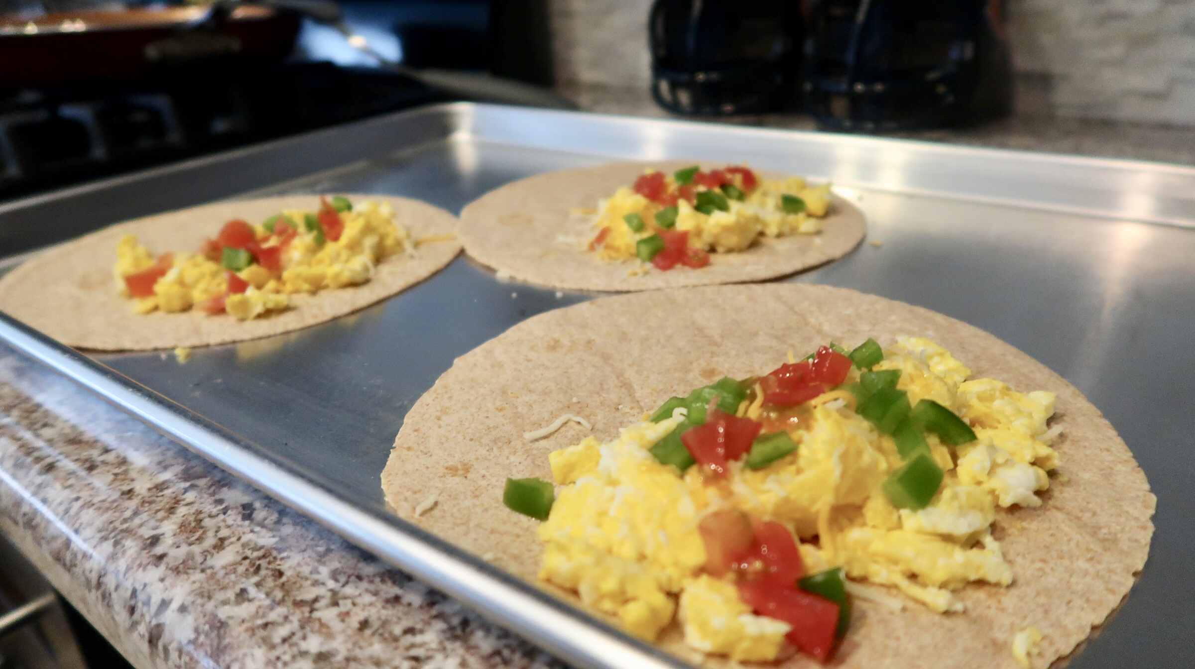 On the go egg breakfast burrito recipe preparation