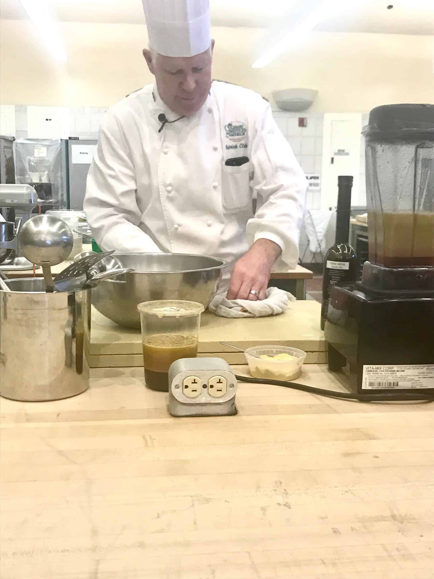 Chefs at the Culinary Institute of America hosted breakout culinary education sessions