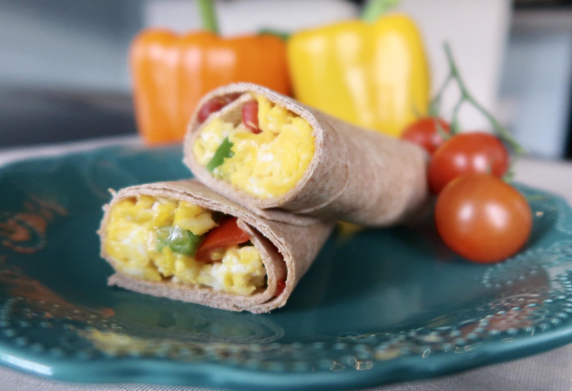 On-the-go egg breakfast burrito recipe