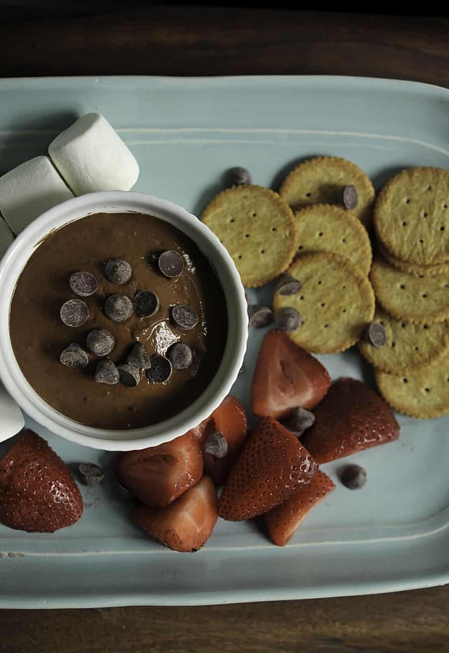 no added sugar no bake Healthy brownie batter dip recipe
