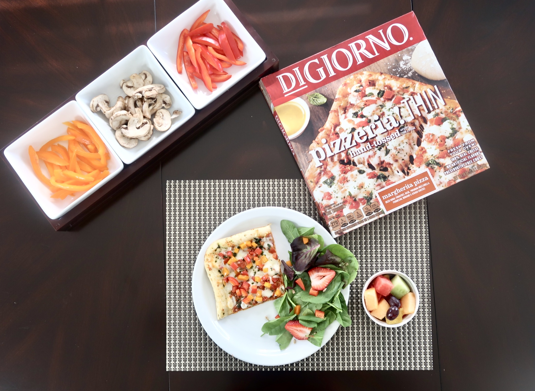 Host a healthy family pizza night