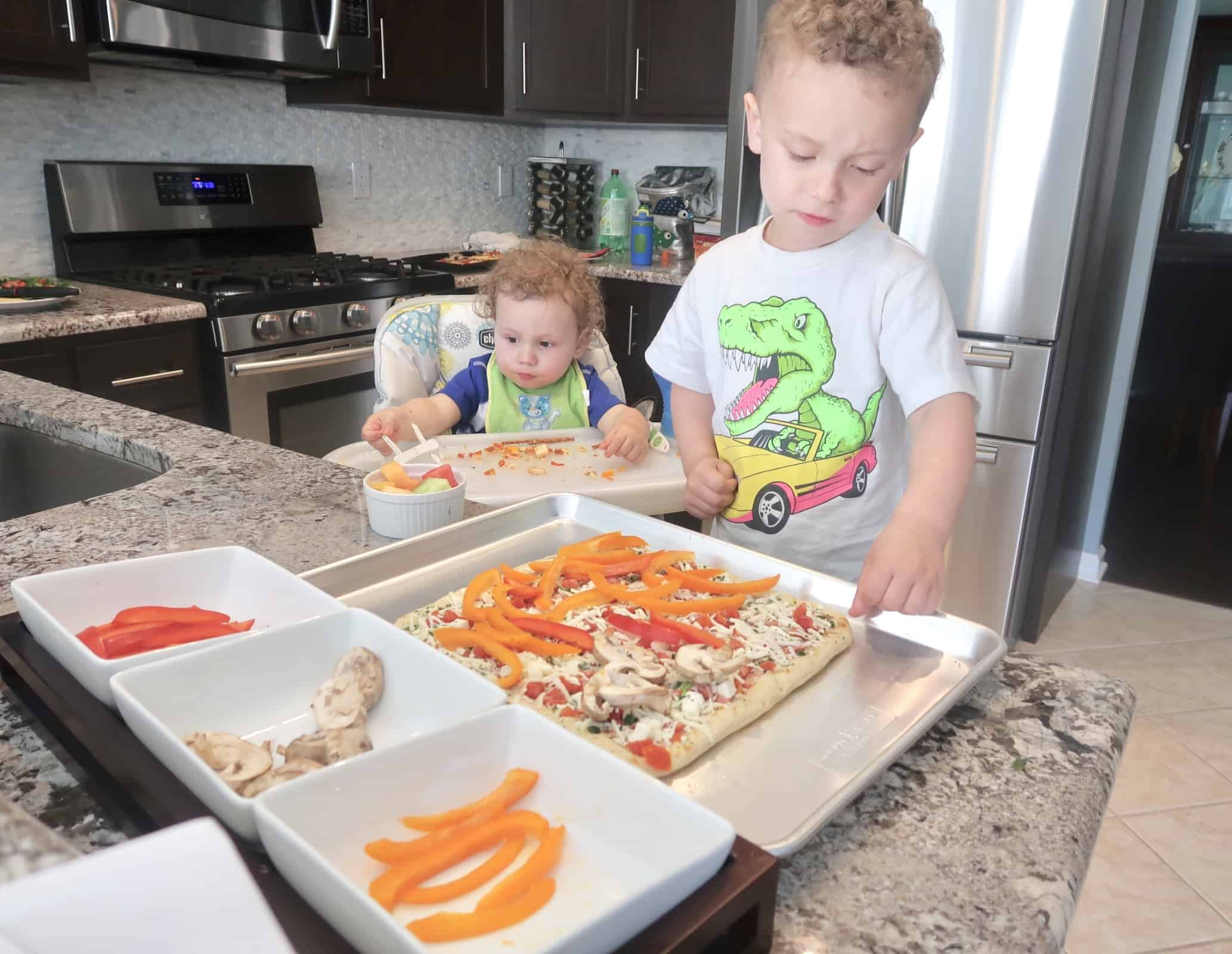 Making healthy pizzas