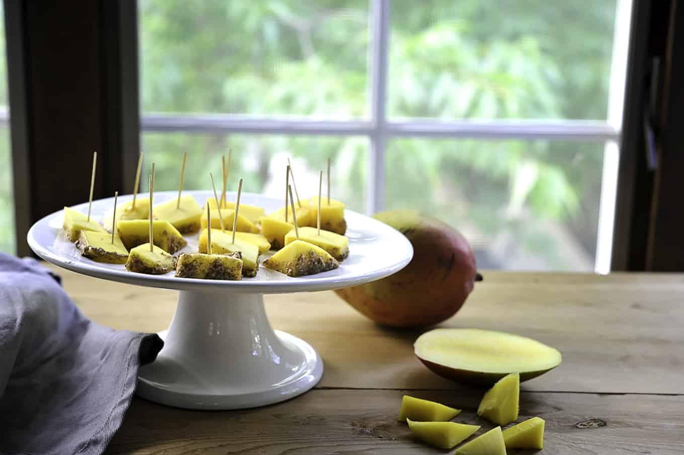 Cinnamon Oat Mango Bites