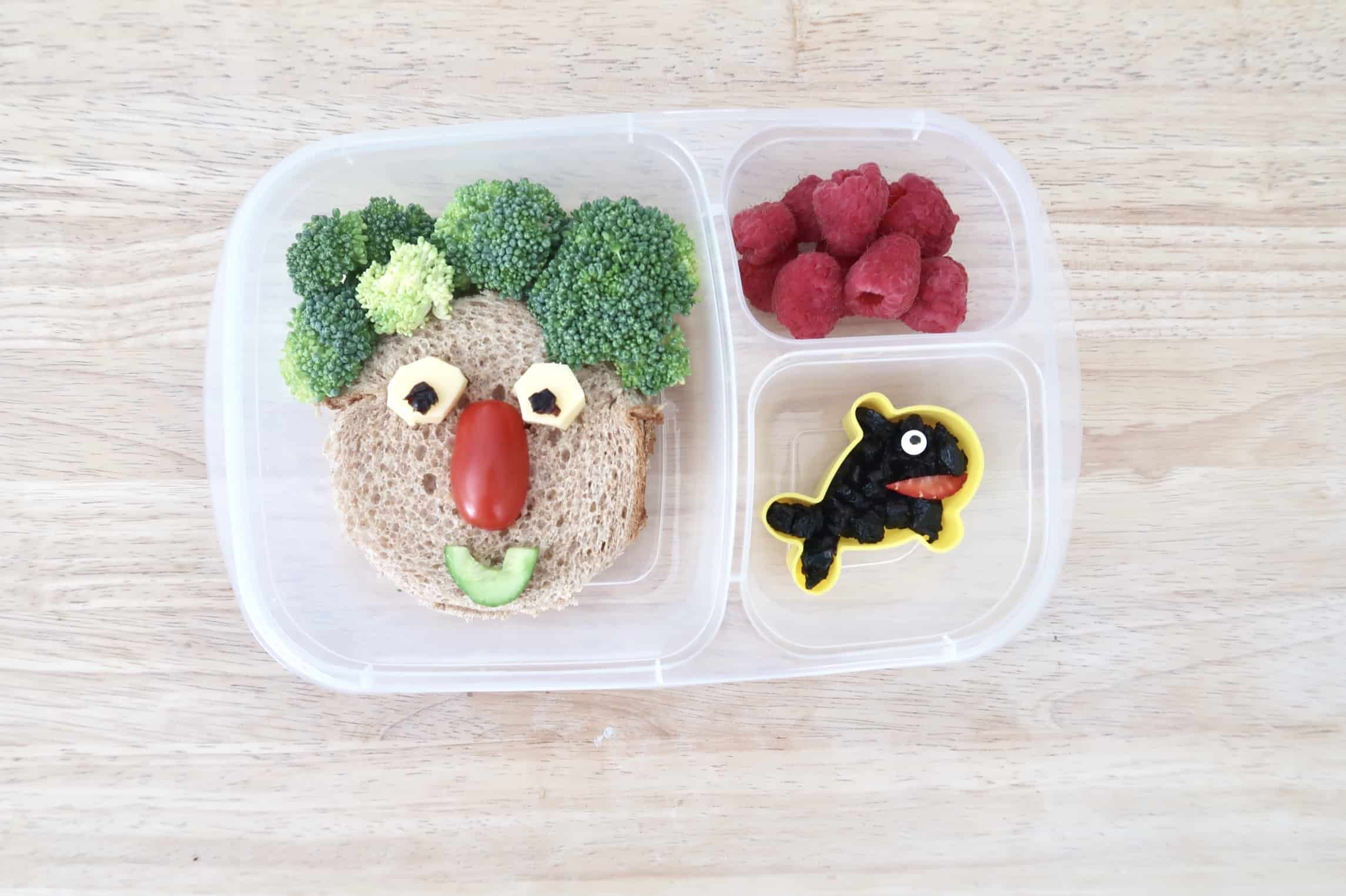 healthy bento box food art for kids