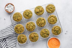Ninja Turtle Green Muffins before adding mask and eyes