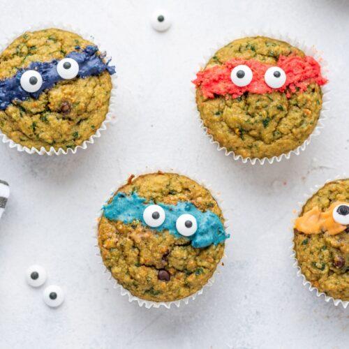 Ninja Turtle Green Veggie Muffins