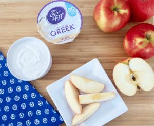 2 Ingredient Greek Yogurt Cream Cheese Frosting Dip