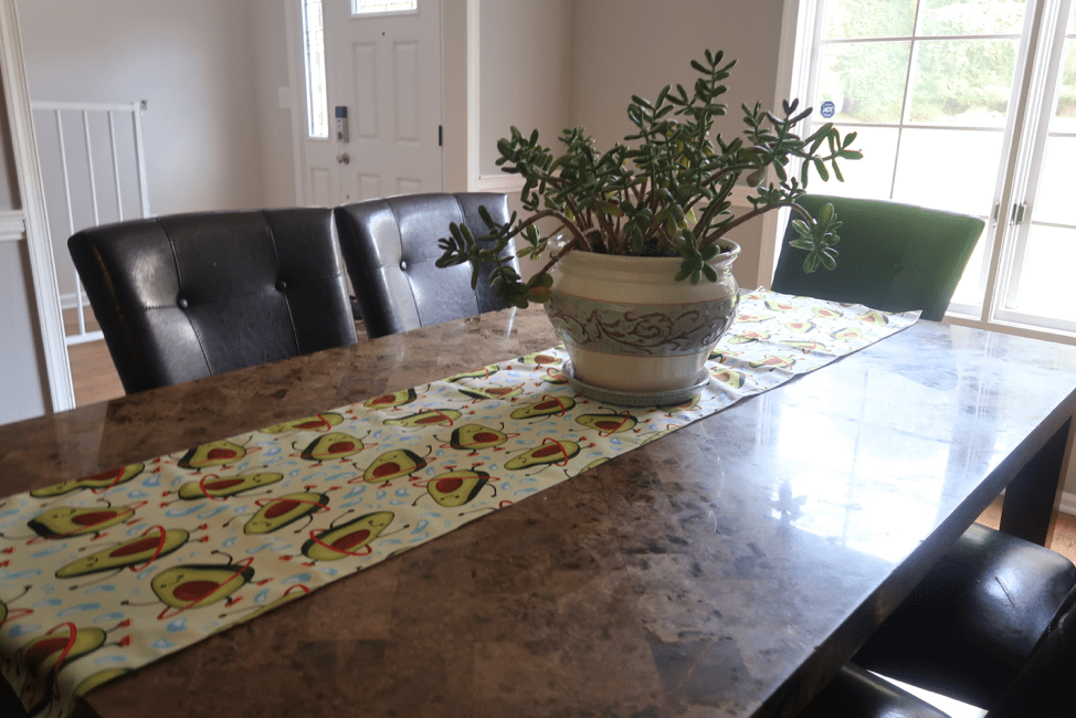 Of course I couldn't resist picking up this incredible avocado table runner