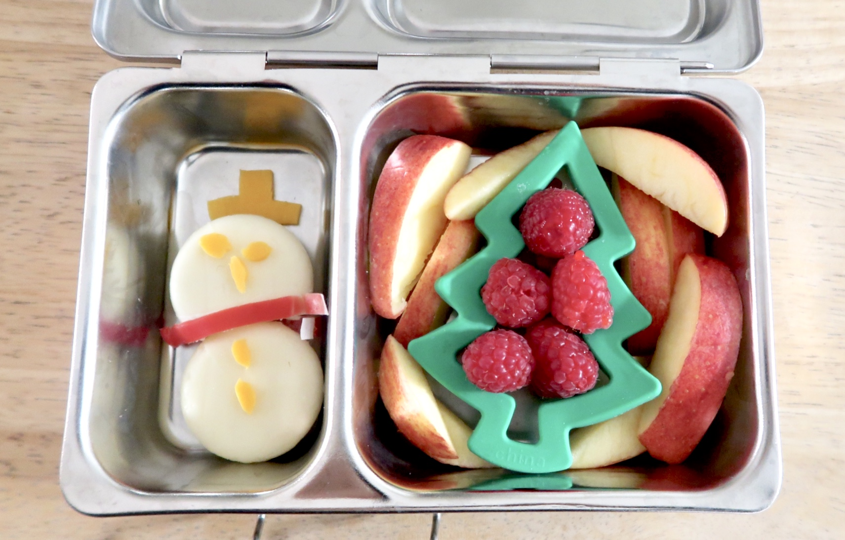 Cheese snowman food art for kids fun christmas foods