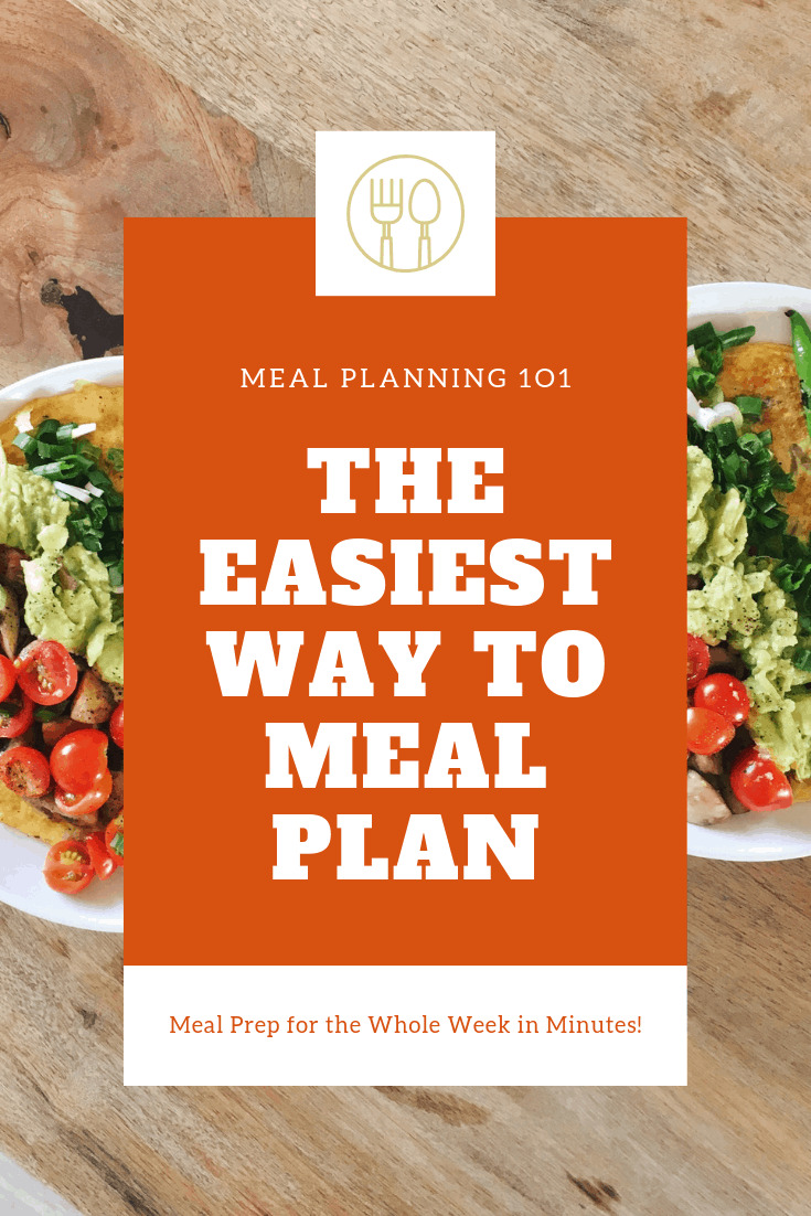 easy meal planning tips how to meal plan for the week in minutes