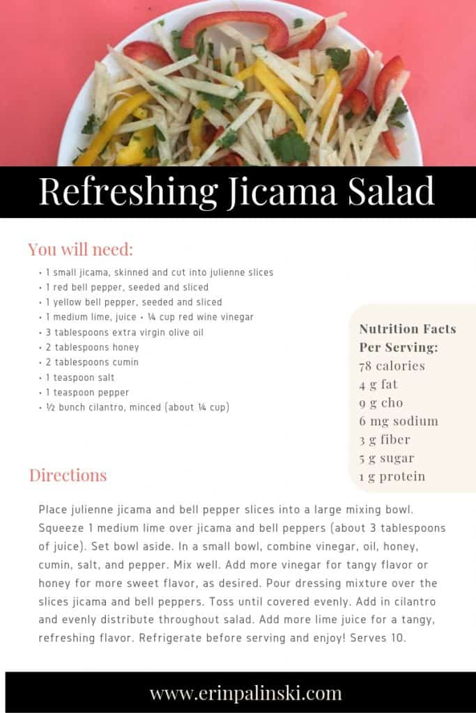 Stress-Busting Recipe Refreshing Jicama Salad full of Vitamin C