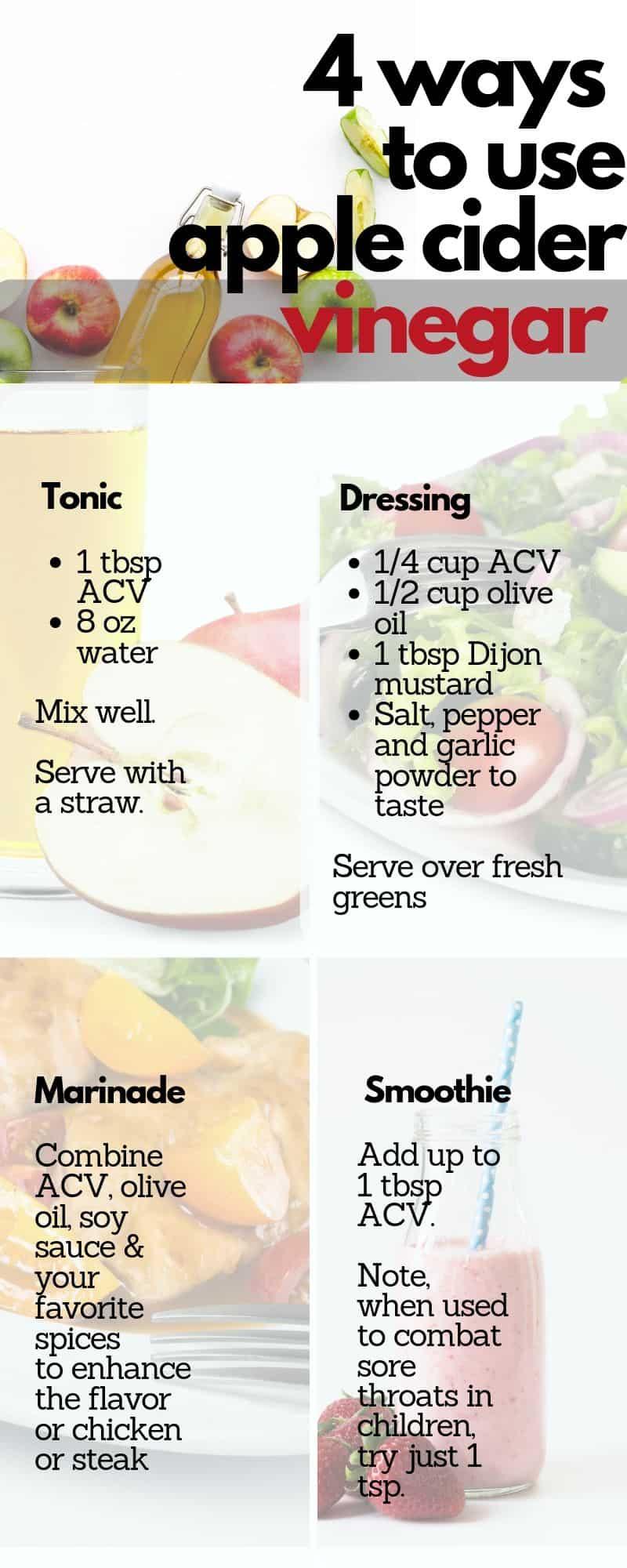 4 ways to use apple cider vinegar