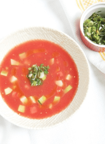 2 Watermelon Tomato Gazpacho with Scallion Cilantro Relish 10 Reasons and Ways to Eat Watermelon