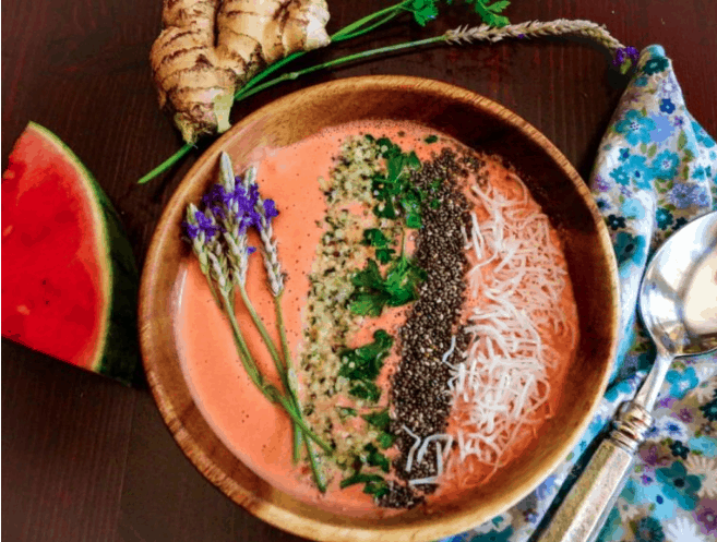 3 Watermelon Ginger Smoothie Bowl 10 Reasons and Ways to Eat Watermelon