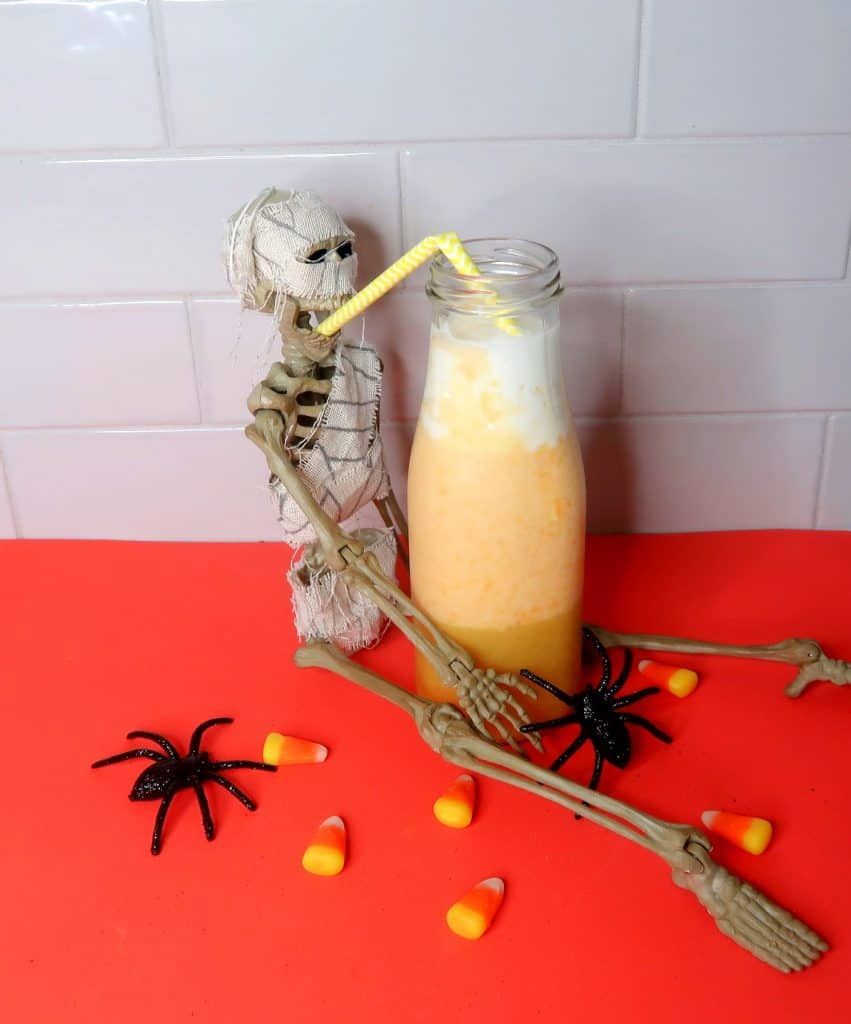 Easy Candy Corn Smoothie Recipe | Healthy Halloween Smoothie Recipe Easy Halloween Smoothie for Kids