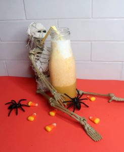 Easy Candy Corn Smoothie Recipe | Healthy Halloween Smoothie Recipe for Kids
