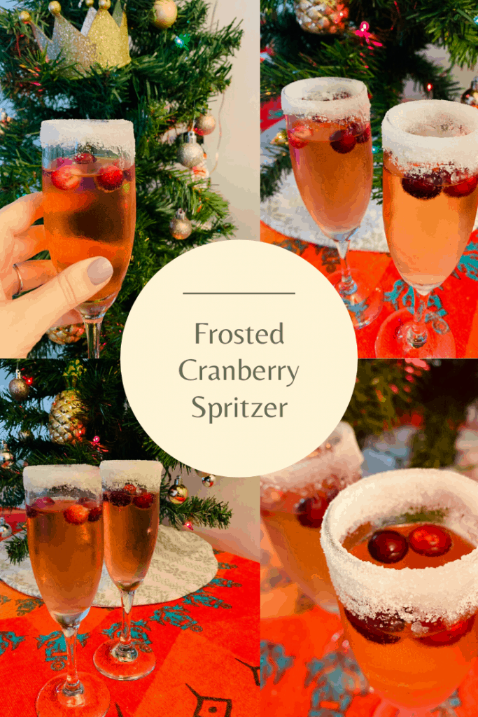 Frosted Cranberry Spritzer
