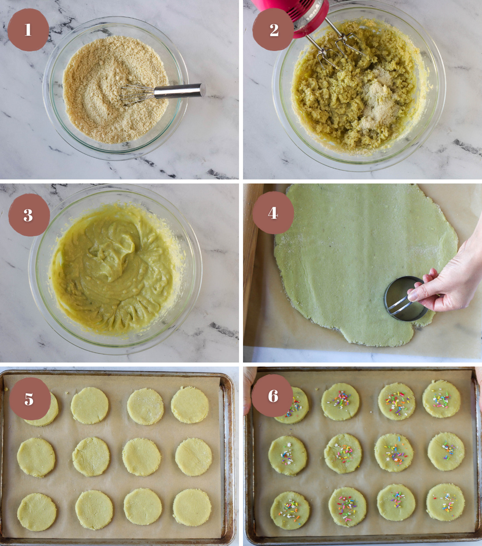 Process of making keto sugar cookies
