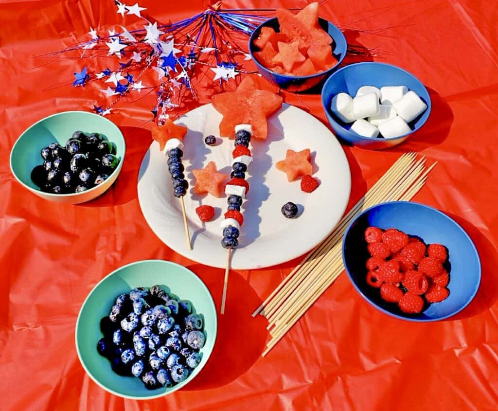 easy labor day recipe for kids red white blue recipe idea fruit kabob