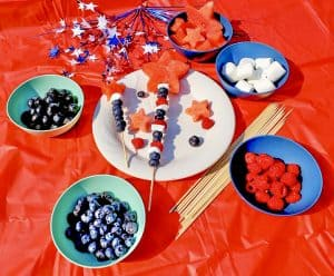 easy labor day recipe for kids red white blue recipe idea fruit kabob