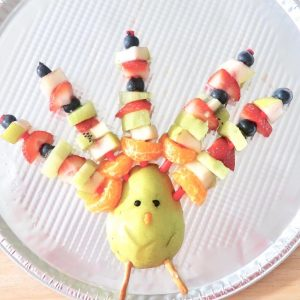 The Easiest Turkey Fruit Platter Food Art for Thanksgiving Day