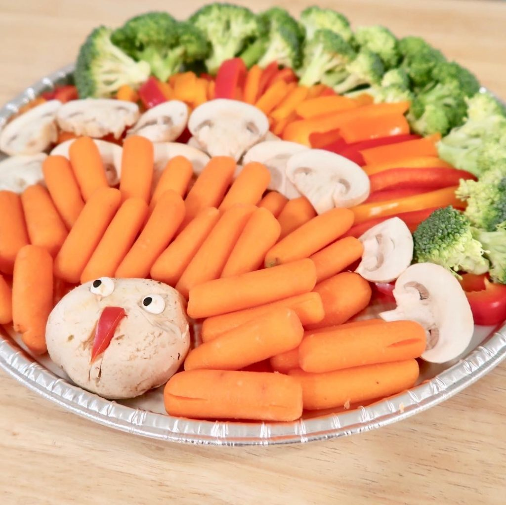 Turkey Vegetable Tray for Thanksgiving