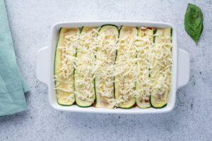 Easy Keto Vegetarian Lasagna before baking
