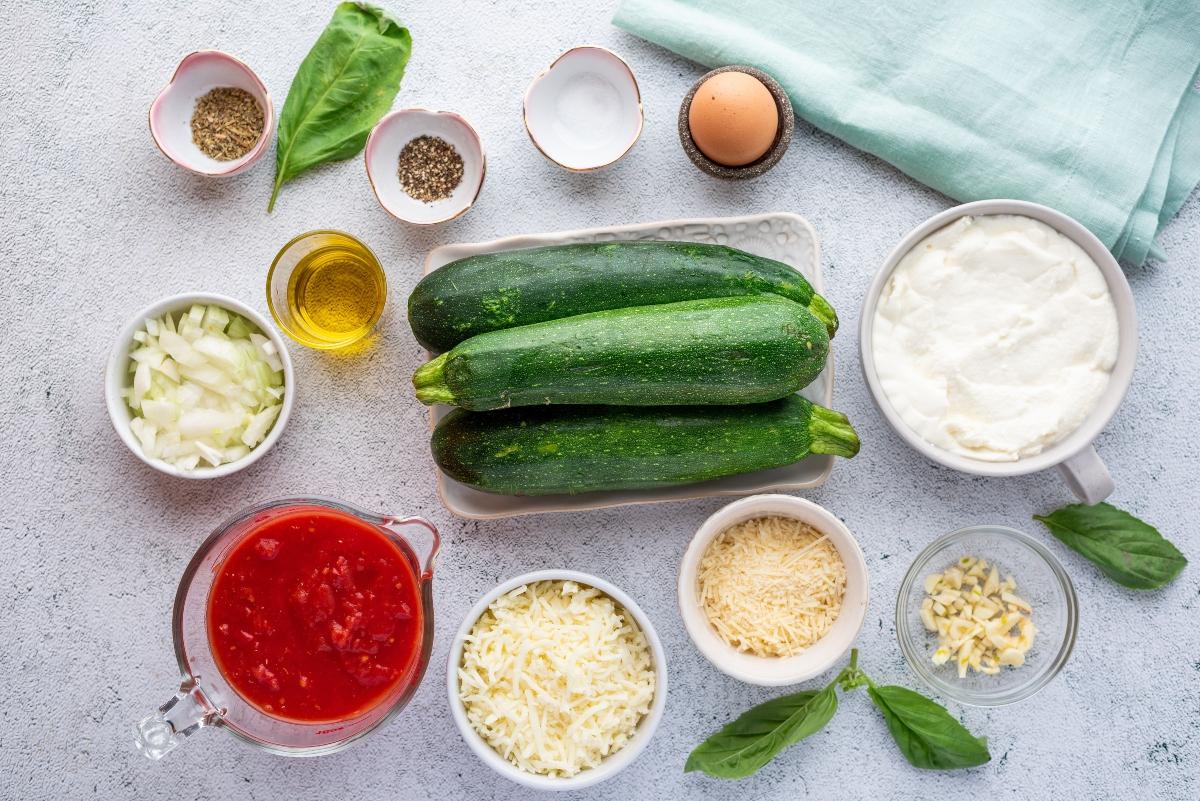 Ingredients for Easy Keto Vegetarian Lasagna