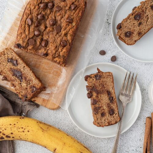 Keto Chocolate Banana Bread With Slices