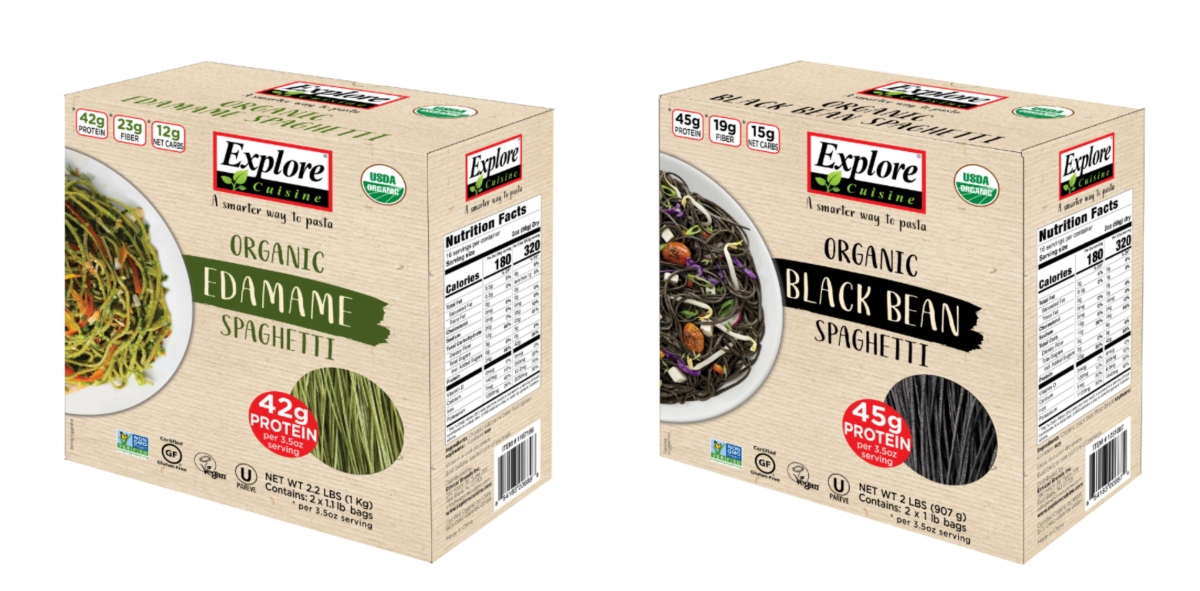 Explore cuisine edamame and black beans spaghetti  packages