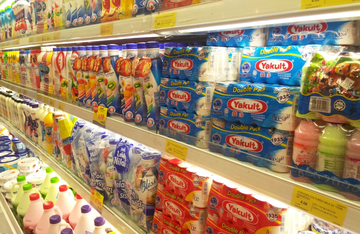Package of Yakult in a store